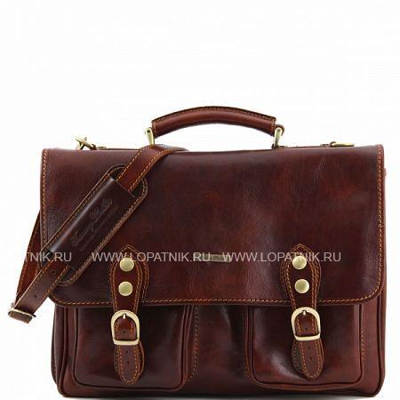 Купить Портфель со съемным плечевым ремнем TUSCANY TL141134-2, Коричневый, Натуральная кожа