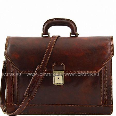 Купить Портфель TUSCANY TL10026-2, Коричневый, Натуральная кожа