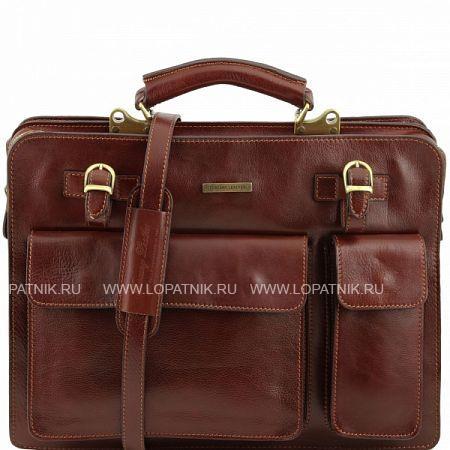 Купить Портфель со съемным плечевым ремнем TUSCANY TL141268-2, Коричневый, Натуральная кожа