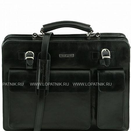 Купить Портфель со съемным плечевым ремнем TUSCANY TL141268-1, Черный, Натуральная кожа