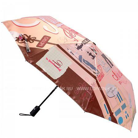 Купить Зонт складной женский FLIORAJ 013-039 FJ, Коричневый, Разноцветный