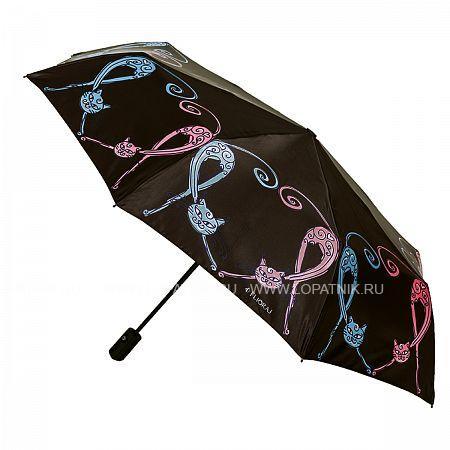 Купить Зонт складной женский FLIORAJ 190201 FJ, Черный