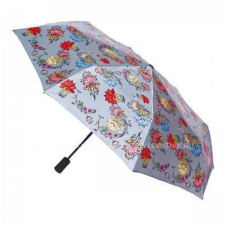 Купить Зонт складной женский FLIORAJ 190205 FJ, Серый, Разноцветный