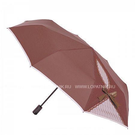 Купить Зонт складной женский FLIORAJ 20001 FJ, Белый, Коричневый