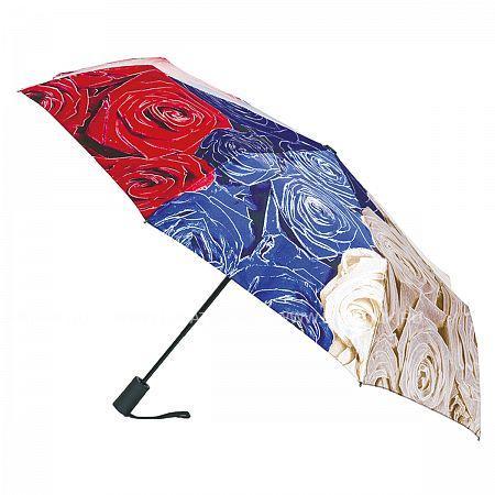 Купить Зонт складной женский FLIORAJ 231202 FJ, Белый, Синий, Красный