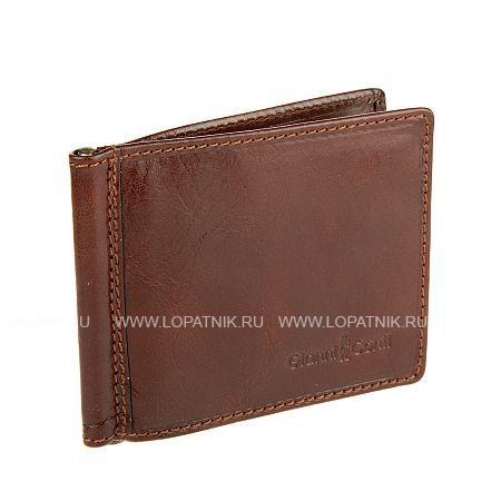 Купить Зажим для денег GIANNI CONTI 907101 BROWN, Коричневый, Натуральная кожа