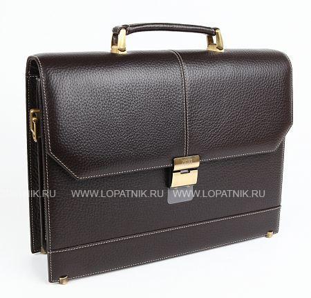 Купить Портфель со съемным плечевым ремнем PETEK 791.46B.KD2, Коричневый, Натуральная кожа