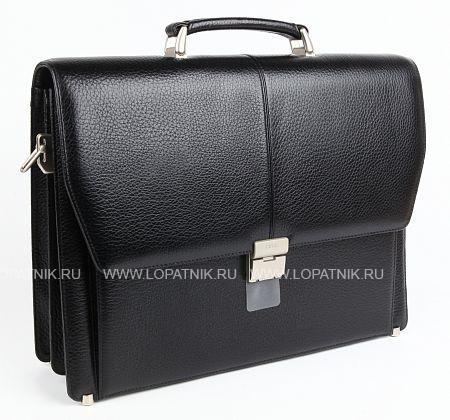 Купить Портфель со съемным плечевым ремнем PETEK 799.46B.01, Черный, Натуральная кожа