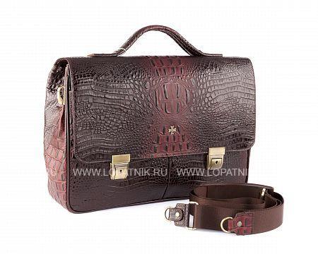 Купить Портфель VASHERON 9738-N.BAMBINO BURGUNDY, Коричневый, Бордовый, Натуральная кожа