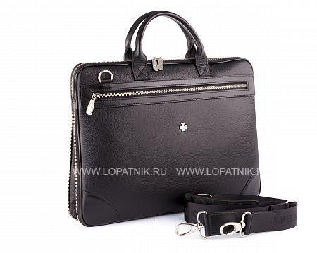 Купить Мужская деловая сумка VASHERON 9742-N.POLO BLACK, Черный, Натуральная кожа