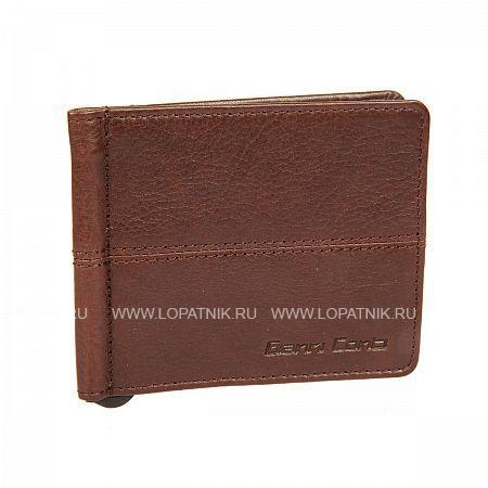 Купить Зажим для денег GIANNI CONTI 1137466E DARK BROWN, Коричневый, Натуральная кожа