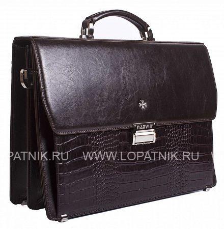 Купить Портфель VASHERON 9737-N.D.BROWN/ALIGRO CAF, Коричневый, Натуральная кожа
