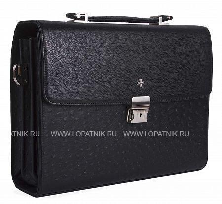 Купить со скидкой Портфель мужской VASHERON 9744-N.POLO BLACK/OSTRICH
