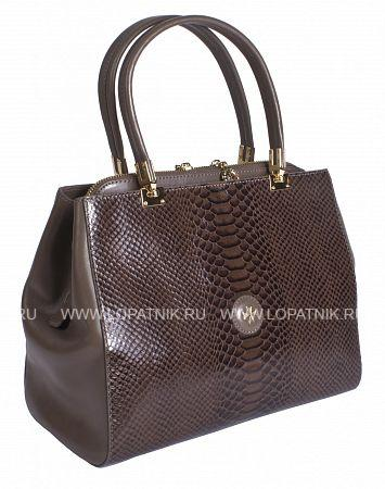 Купить Сумка кожаная женская VASHERON 9978-N.ANACONDA SAND, Бежевый, Коричневый, Натуральная кожа
