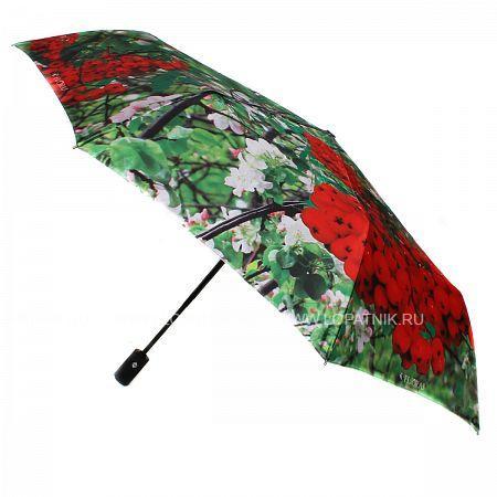 Купить Зонт складной женский FLIORAJ 231213 FJ, Белый, Зеленый, Красный