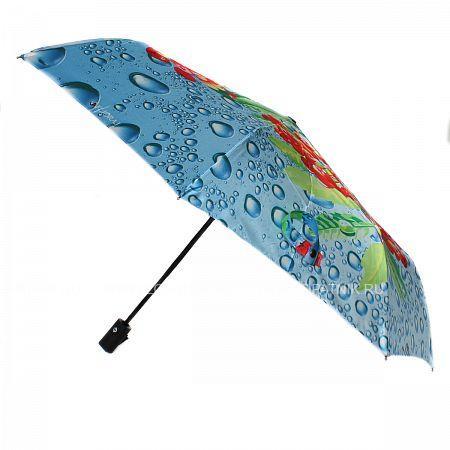 Купить Зонт складной женский FLIORAJ 231215 FJ, Синий, Зеленый, Голубой, Красный