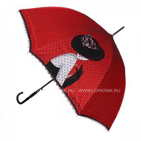 Купить Зонт-трость женский FLIORAJ 121203 FJ, Белый, Красный, Черный