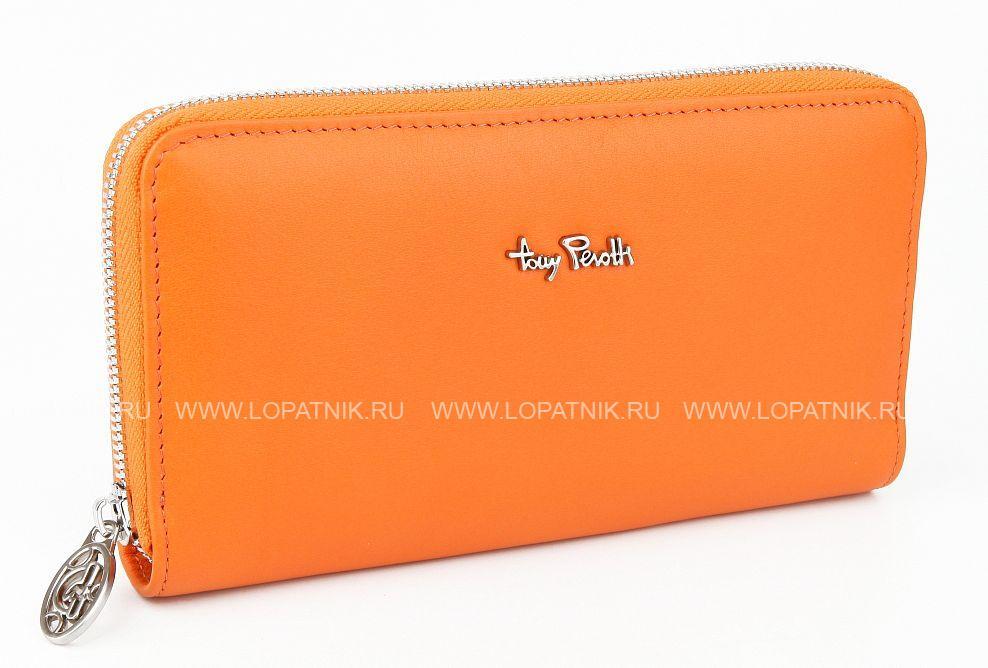 f98cf9bdb8e0 Женский кожаный кошелек Tony Perotti 311442/7, Оранжевый цена 5 760 ...