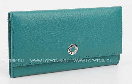 Купить Женский кожаный кошелек PETEK 379.46B.32, Бирюзовый, Натуральная кожа
