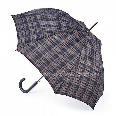 Купить Зонт-трость в клетку FULTON G832-2839 MENZIES, Коричневый, Полиэстер (тканевый)