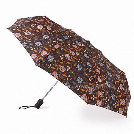 Купить Зонт складной женский FULTON J346-3053 MIROFLORAL, Белый, Желтый, Оранжевый, Полиэстер (тканевый)