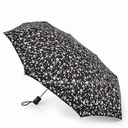 Купить Зонт складной женский FULTON L346-3162 PINK POSY, Коричневый, Черный, Серый, Полиэстер (тканевый)