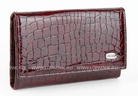 Купить Кожаная женская ключница PETEK 505.091.03, Бордовый, Натуральная кожа