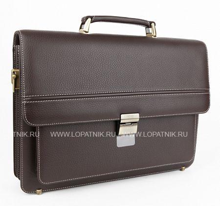 Купить Кожаный мужской портфель PETEK 854.46D.KD2, Коричневый, Натуральная кожа