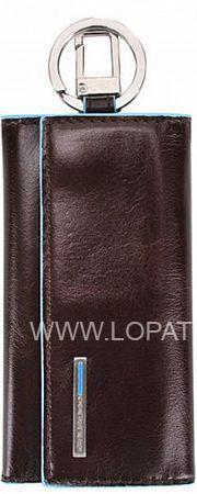Купить Ключница кожаная мужская PIQUADRO PC1397B2/MO, Коричневый, Натуральная кожа