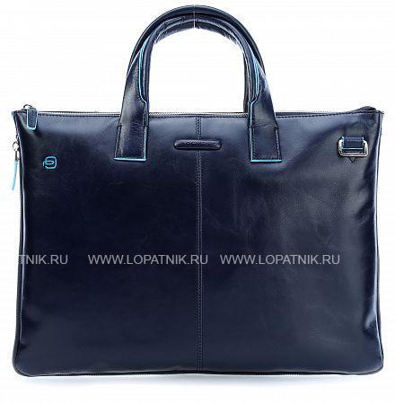 Купить Сумка для ноутбука кожаная мужская PIQUADRO CA4021B2/BLU2, Синий, Натуральная кожа