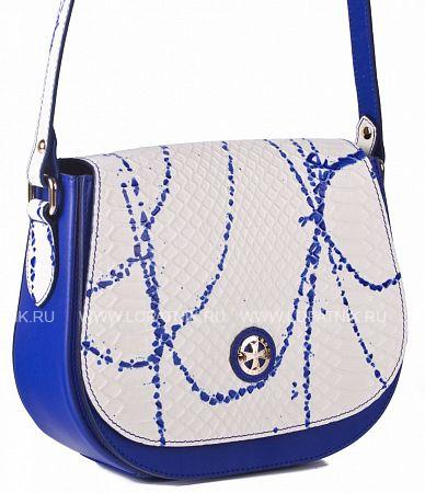 Купить Сумка-клатч женская кожаная VASHERON 9960-N.ANACONDA BLUE, Бежевый, Синий, Натуральная кожа