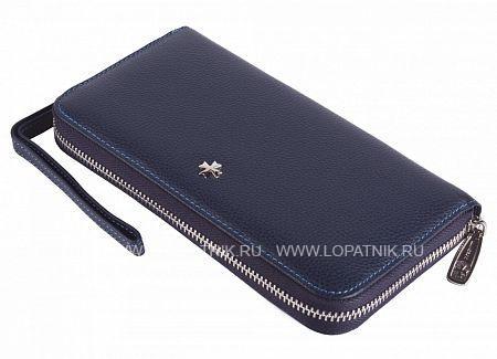 Кожаный мужской кошелек VASHERON 9591-N.POLO D.BLUE