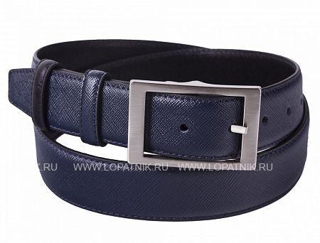 Купить Кожаный мужской ремень VASHERON 31008-PRADA D.BLUE/VEG BL, Синий, Черный, Натуральная кожа