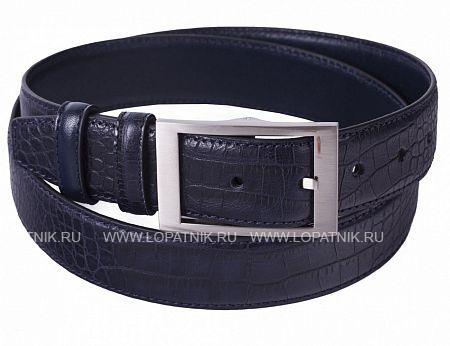 Купить Кожаный мужской ремень VASHERON 31008-ALIG D.BLUE/VEG D.B, Синий, Натуральная кожа