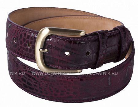 Купить Кожаный мужской ремень VASHERON 34055/4-BAMBINO BURGUNDY, Бордовый, Натуральная кожа