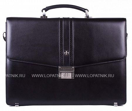 Купить Кожаный мужской портфель VASHERON 9736-N.BLACK/ANAC BLACK, Черный, Натуральная кожа