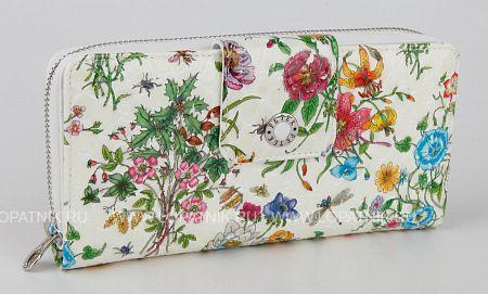 Купить Женский кожаный кошелек PETEK 460.094.00, Белый, Разноцветный, Натуральная кожа