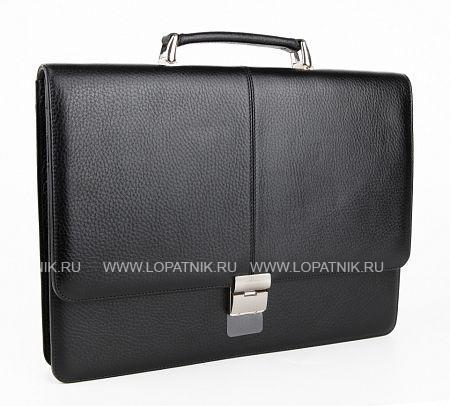 Купить Мужской кожаный портфель PETEK 777.46B.01, Черный, Натуральная кожа