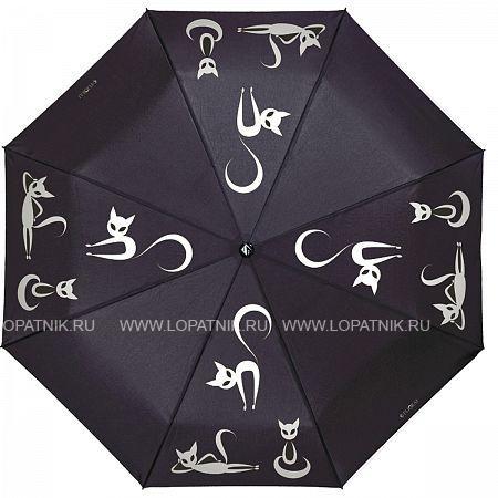 Купить Зонт складной женский FLIORAJ 210201 FJ, Черный, Полиэстер (тканевый)