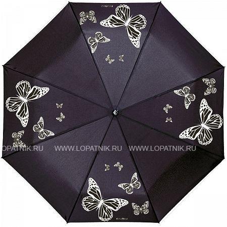 Купить Зонт складной женский FLIORAJ 210202 FJ, Белый, Черный, Полиэстер (тканевый)