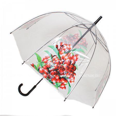 Купить Зонт-трость женский FLIORAJ 121206 FJ, Белый, Зеленый, Красный, ПВХ