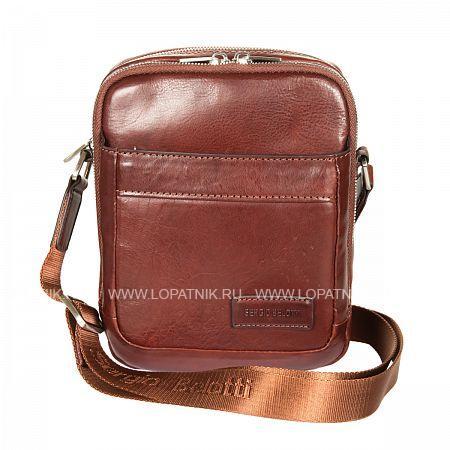 Купить Мужская кожаная сумка на плечевом ремне SERGIO BELOTTI 9985 VEGETALE BROWN, Коричневый, Натуральная кожа