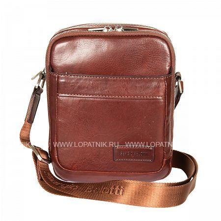 Мужская кожаная сумка на плечевом ремне SERGIO BELOTTI 9985 VEGETALE BROWN