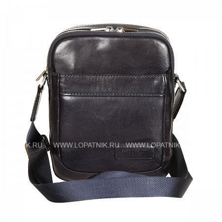 Купить Мужская кожаная сумка на плечевом ремне SERGIO BELOTTI 9985 VEGETALE NAVY, Синий, Натуральная кожа