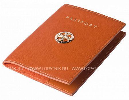 Купить Обложка для паспорта VASHERON 9161-N.POLO ORANGE, Оранжевый, Натуральная кожа