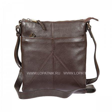 Купить Мужская сумка на плечевом ремне GIANNI CONTI 1542711 DARK BROWN, Коричневый, Натуральная кожа