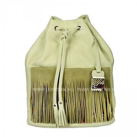 Купить Рюкзак кожаный женский GIANNI CONTI 1394738 CANARY, Зеленый, Натуральная кожа