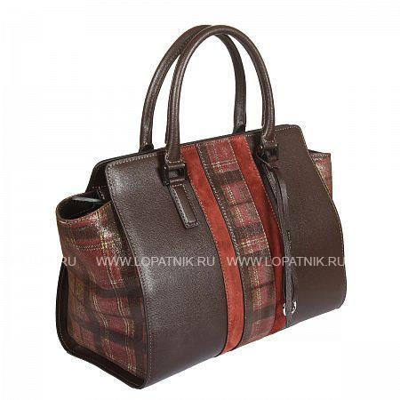 Купить Женская кожаная сумка GIANNI CONTI 2433434 DARK BROWN, Коричневый, Натуральная кожа
