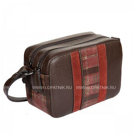 Женская кожаная сумка GIANNI CONTI 2433436 DARK BROWN, Коричневый, Натуральная кожа  - купить со скидкой