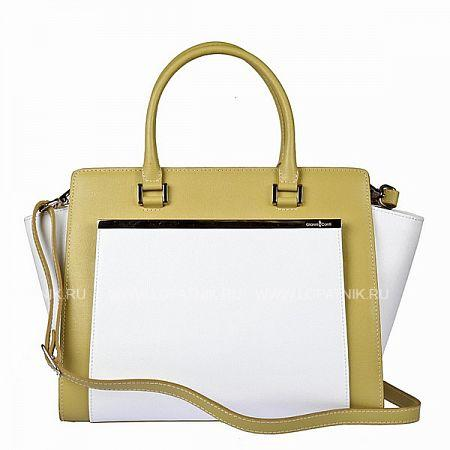 Купить Женская кожаная сумка GIANNI CONTI 494406 KIWI-WHITE, Белый, Зеленый, Натуральная кожа